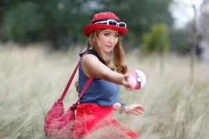 Serena and her Love Ball, Pokemon XY by firecloak