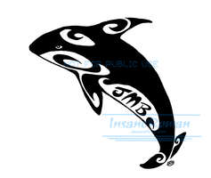 Killer Whale Logo Commission by InsaneRoman