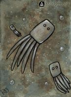 [ACEO] Squid by Rusticraft