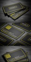 Yellow Corporate Business Card by calwincalwin