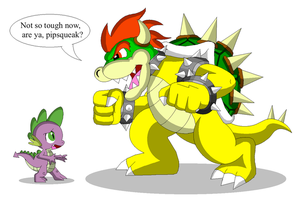 Spike vs Bowser by Koopa-Master