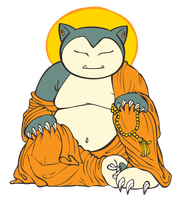 Buddha Snorlax by stablercake