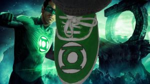 For Sale: Green Lantern: Custom Logo Shoes by Rudolftheclown