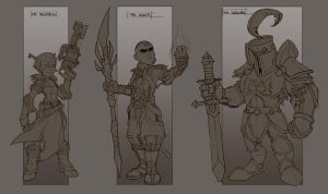 medieval character concepts by jamis27