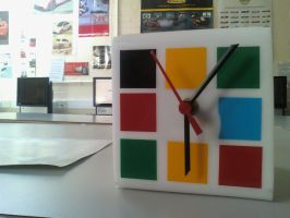 Rubik cube clock by Lulu0001