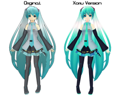 Xoriu C'mell Miku Comparison by Xoriu