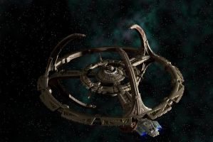 Defiant and Deep Space Nine by Tiberius47