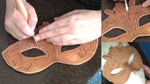 WiP Lady of March's Mask by Angelic-Artisan