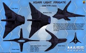 Asari Light Frigate Vak'tyr class Overview by Euderion