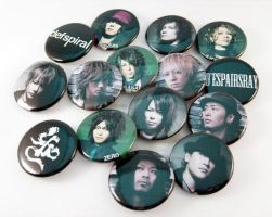 J-rock Buttons by car2in-bitz
