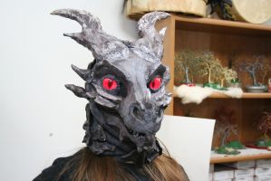Alduin fursuit mask 2 closed Mouth by BlueEyes9
