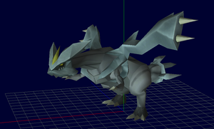 Kyurem v3 papercraft new pose by javierini