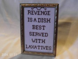 Funny Framed Cross Stitch, Revenge by agorby00