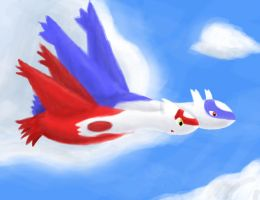 Latios and Latias just flying by Resistance-Of-Faith