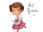 Hetalia oc redesign: Midi pyrenees by friedfairy