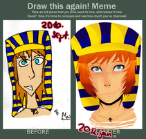 Draw this again meme by Hexakowka