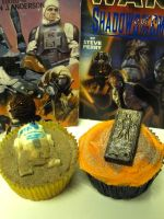 R2D2 + Han Solo Cupcakes by aniapaluch