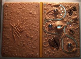 Polymer clay journal raw clay by MandarinMoon