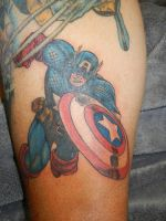 Captain America Tattoo by thedirtybird1