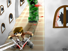 [Speedart] SkyDoesAttackOnMinecraft by DiamondSwordDS