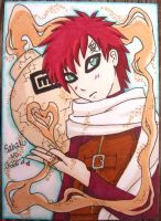 Subaku no Gaara ACEO - Color by FoxyKitsuneko