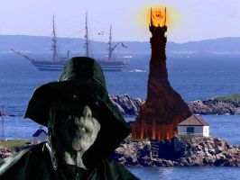 The Lighthouse of Mordor by mapacheanepicstory