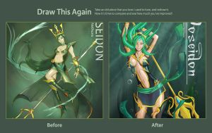 Draw it again contest : Goddess of the SEA by the-newKid