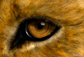Realistic Lion Eye Painting by KhaliaArt