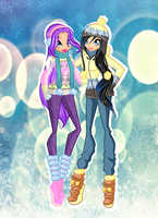 Winter outfits by Cristalinawinx