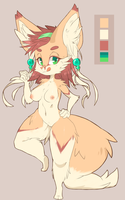 ADOPTABLE AUCTION - Fennec Girl by CoffeeChicken