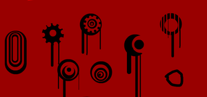 red black circles by noixeZ