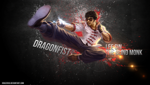 LoL - Dragon Fist Lee Sin | The Blind Monk WP by xRazerxD