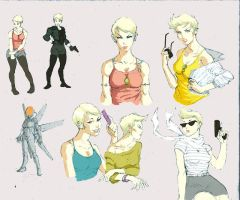 Pearl D. Character Reference Sheet by markpwhitaker