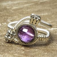 Ametrine Steampunk Ring by CatherinetteRings