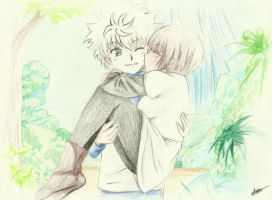 Killua y Yala by LucyHeartfilia17