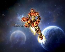 Iron-man in space by ColTrane11