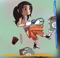 chell chibi by PeppermintBat