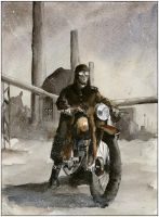 Motorbike and power plant by sanderus