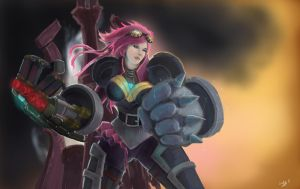 Digi Art Throwdown : Vi and the IBG by FarahBoom