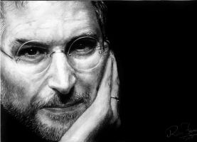 Steve Jobs by earlierbirdscenic