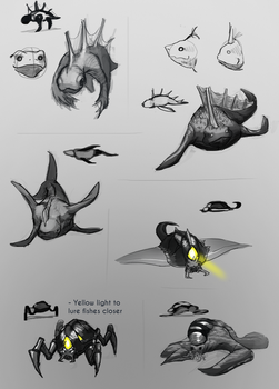 Sea Creatures Concepts by Sphuky
