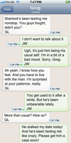 The Personal Text Log of Dr. John Watson Pt. 8a by blissfulldarkness