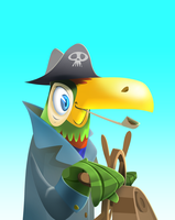 Toucan the Steersman (WIP) by Gilmec