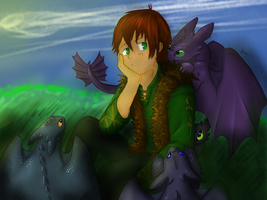 Hiccup is stuck colored (speed paint) by SnowstormSpirit2285