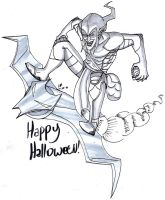 Inktober Day 31: HAPPY HALLOWEEN FROM THE GOBLIN!! by ConstantM0tion