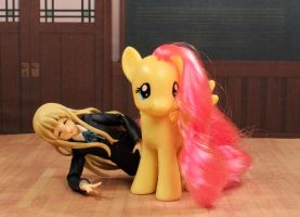 Tsumugi With Fluttershy by AnimatorAR
