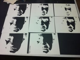 Johnny Cash cut outs by Stencils-by-Chase