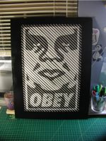 Obey Lined Halftone by truemarmalade