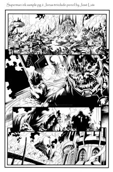 superman ink sample pg 2 by JonasTrindade