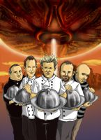 Chefs and Aliens by djaax